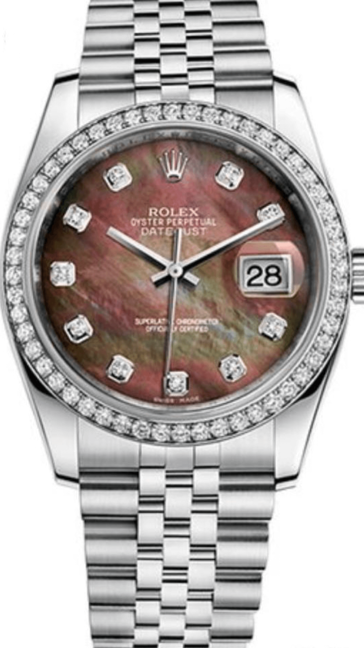 Rolex DateJust 36 mm Lady  Custom Diamonds